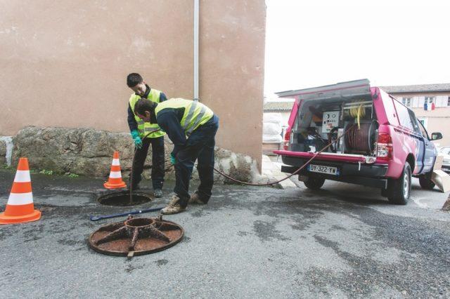 Nettoyage et entretien préventif d'égouts
